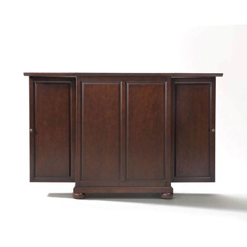 Alexandria Expandable Bar Cabinet in Vintage Mahogany Finish