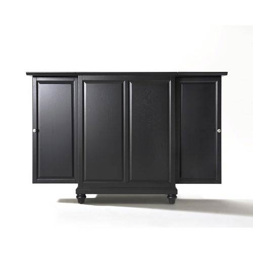 Cambridge Expandable Bar Cabinet in Black Finish