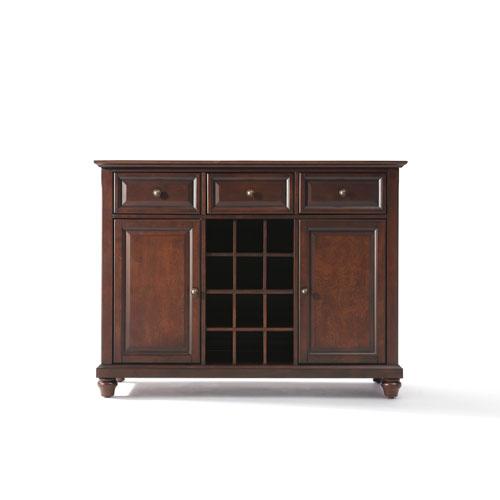 Crosley Furniture Cambridge Buffet Server / Sideboard Cabinet with Wine Storage in Vintage Mahogany Finish  sc 1 st  Bellacor & Crosley Furniture Cambridge Buffet Server / Sideboard Cabinet With ...