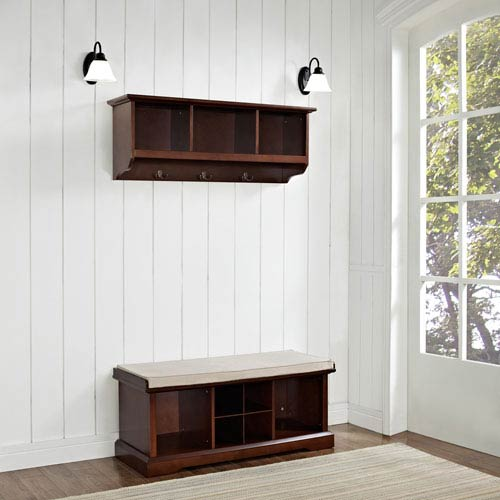 Crosley Furniture Brennan Mahogany Two Piece Entryway