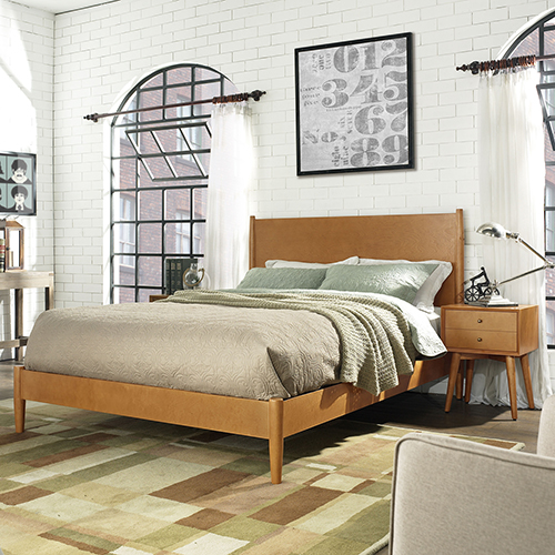 Landon King Bedset in Acorn