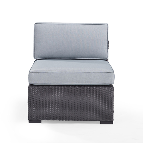 Biscayne Armless Chair With Mist Cushions