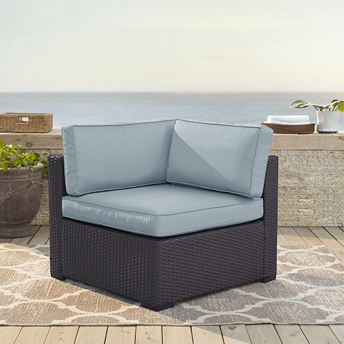 Biscayne Corner Chair With Mist Cushions