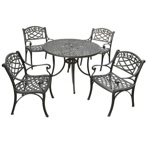 Crosley Furniture Sedona 42 Inch Five Piece Cast Aluminum Outdoor