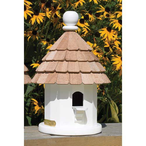 Small White Shingled Birdhouse