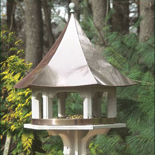 Lazy Hill Carousel Bird Feeder with Copper Roof