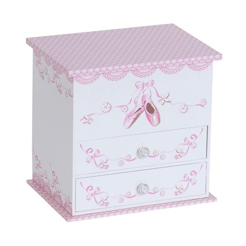 White Angel Girls Musical Ballerina Jewelry Box