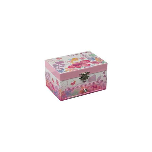 Multi-Colored Fairy and Flowers Ashley Girls Musical Ballerina Jewelry Box