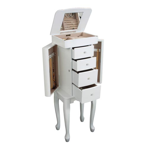 Alexis Jewelry Armoire in Ivory