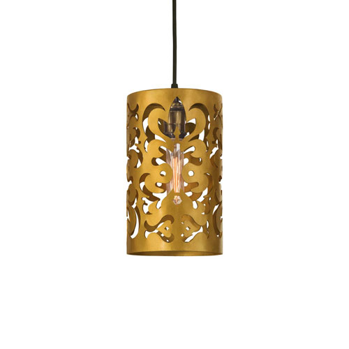 Velvedere Gold Nine-Inch One-Light Mini-Pendant