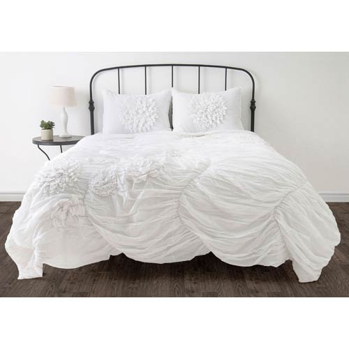 Rizzy Rugs Hush White Twin Comforter Bed Set