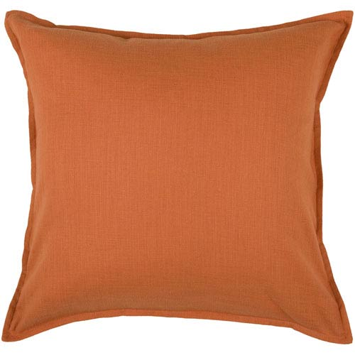 Rizzy Home Orange 20 Inch x 20 Inch Pillow Cover with Hidden Zipper