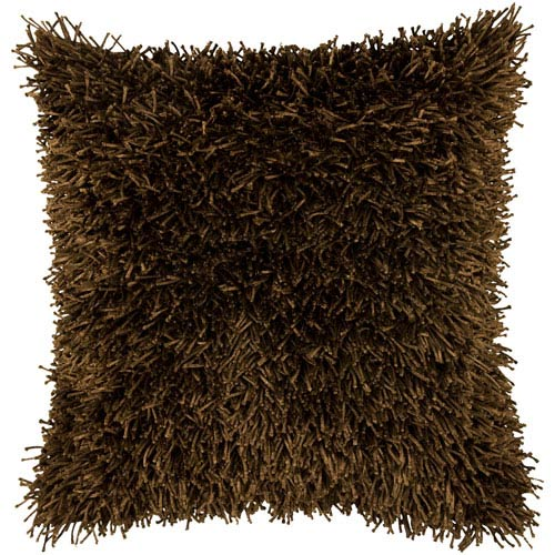 Rizzy Rugs Rizzy Home Brown 18 Inch x 18 Inch Pillow Cover with Hidden Zipper