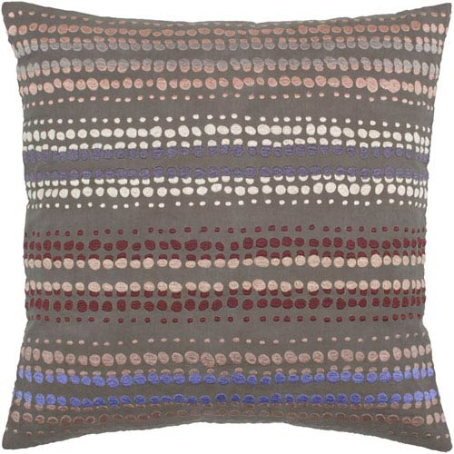 Rizzy Rugs Rizzy Home Brown 20 Inch x 20 Inch Pillow Cover with Hidden Zipper