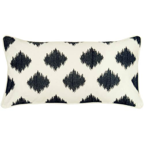 Rizzy Rugs Cream 11 x 21-Inch Pillow with Hidden Zipper