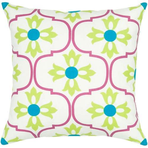 Rizzy Rugs Pink 18 x 18-Inch Pillow with Hidden Zipper
