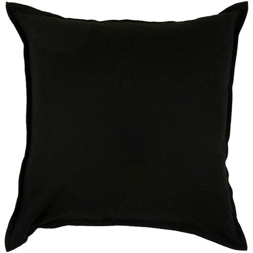 Rizzy Rugs Rizzy Home Black 20 Inch x 20 Inch Pillow Cover with Hidden Zipper