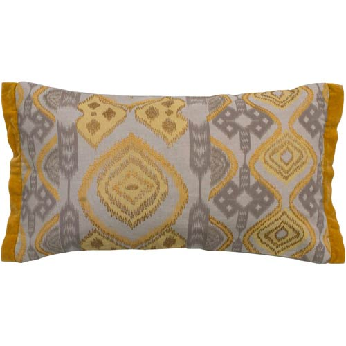 Rizzy Rugs Taupe 11 x 21-Inch Pillow with Hidden Zipper