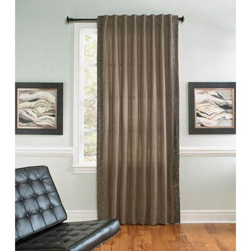Ellie Gray 108 x 54-Incl Single Curtain Panel