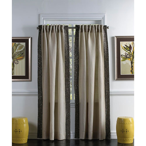 Ellie Wheat 96 x 54-Inch Single Curtain Panel
