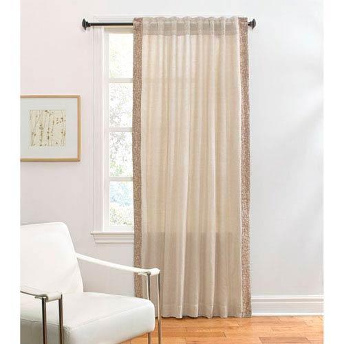Ellie Wheat 120 x 54-Inch Single Curtain Panel
