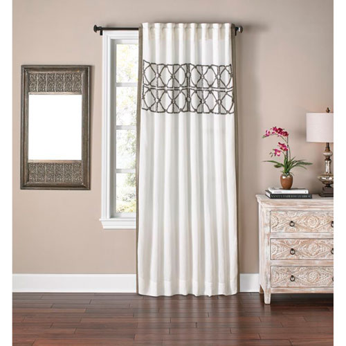 Ory Ivory 96 x 54 In. Linen Curtain Panel