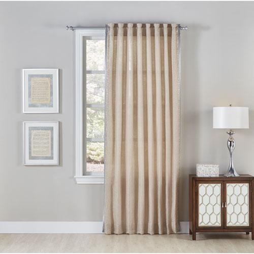 Cloud9 Design Sintra Wheat 108 x 54 In. Linen Curtain Panel