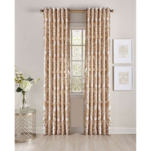 Cloud9 Design Adela Ivory and Gold 96 X 54-Inch Window Panel