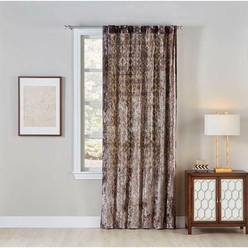 Cloud9 Design Aranka Silver and Gold 120 X 50-Inch Window Panel