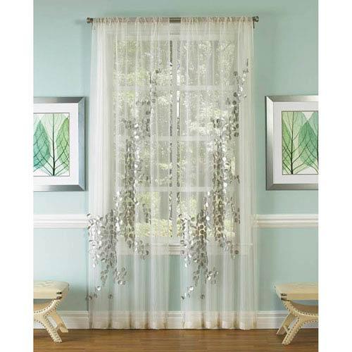 Lhasa White 120 x 50-Inch Single Curtain Panel