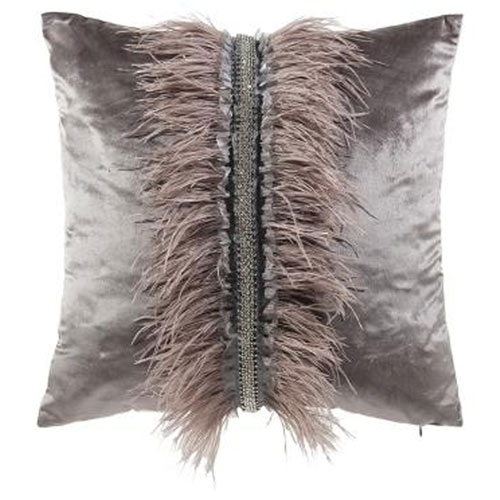 Ava Grey 22 In. Decorative Pillow