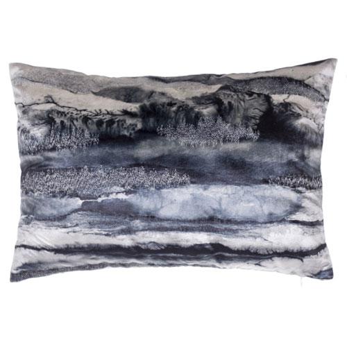 Capri Charcoal 14 x 20 In. Decorative Pillow