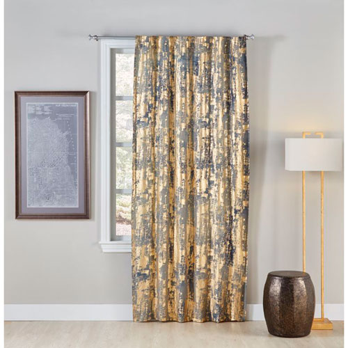 Cloud9 Design Char Charcoal 96 x 50 In. Linen Curtain Panel