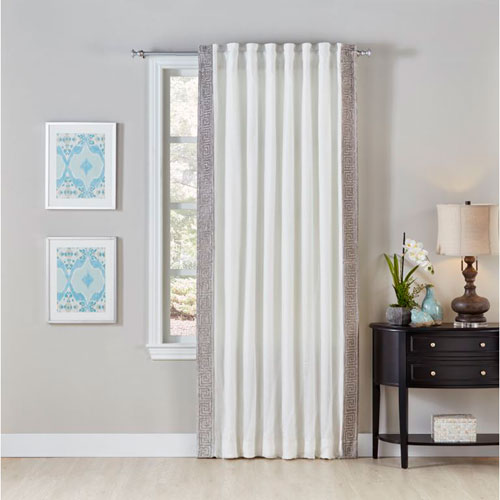 Cloud9 Design Grecia Ivory 120 x 54 In. Linen Curtain Panel
