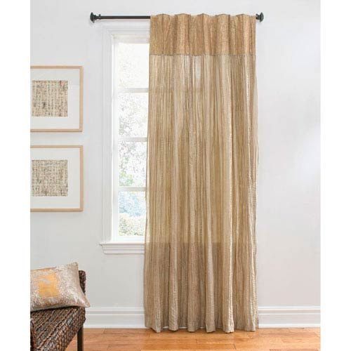 Cloud9 Design Evia Gold 96 X 50 Inch Crinkle Curtain Single Panel