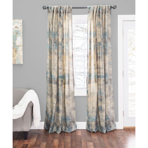 Islay Blue 120 x 54 In. Linen Curtain Panel
