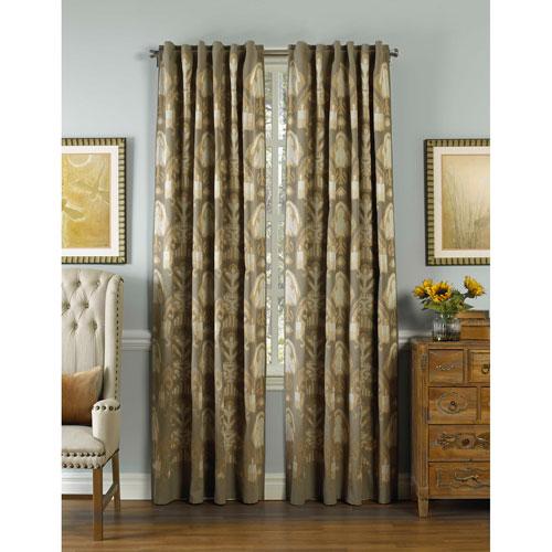Zirara Silver 120 x 54 In. Linen Curtain Panel