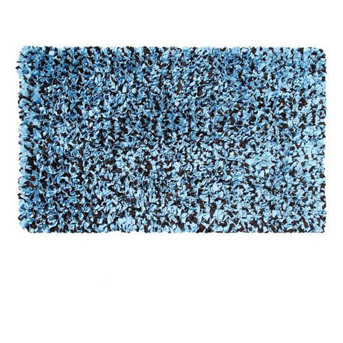 The Rug Market Kids Shaggy Raggy Blue and Brown Rectangular: 4.7 Ft. x 7.7 Ft.