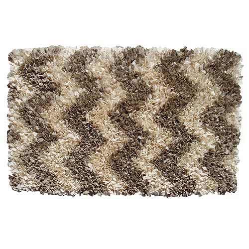 The Rug Market Shaggy Raggy Natural Rectangular: 4 Ft. 7 In. x 7 Ft. 7 In. Rug