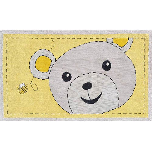 The Rug Market Animal Yellow and Black Rectangular: 2 Ft. 8 In. x 4 Ft. 8 In. Rug