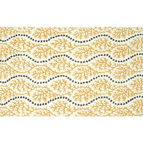The Rug Market Coastal Yellow and Gray Rectangular: 5 Ft. x 7 Ft. 6 In. Rug