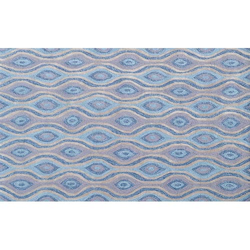 The Rug Market Ethnic Blue and Gray Rectangular: 5 Ft. x 7 Ft. 6 In. Rug