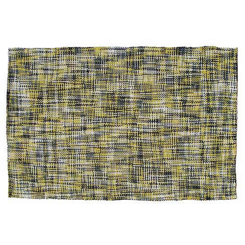 The Rug Market Moderna Yellow and Gray Rectangular: 5 Ft. x 7 Ft. 6 In. Rug