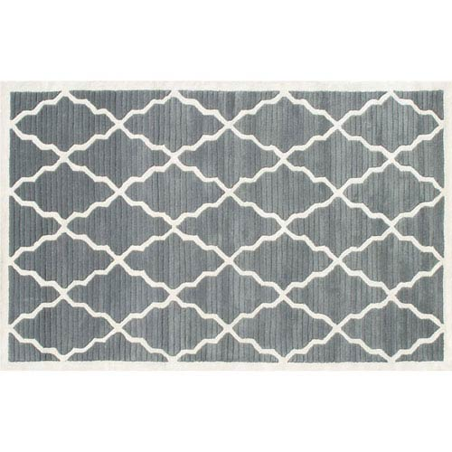 The Rug Market Camden Pemberly Grey and Ivory Rectangular: 5 Ft. x 8 Ft.