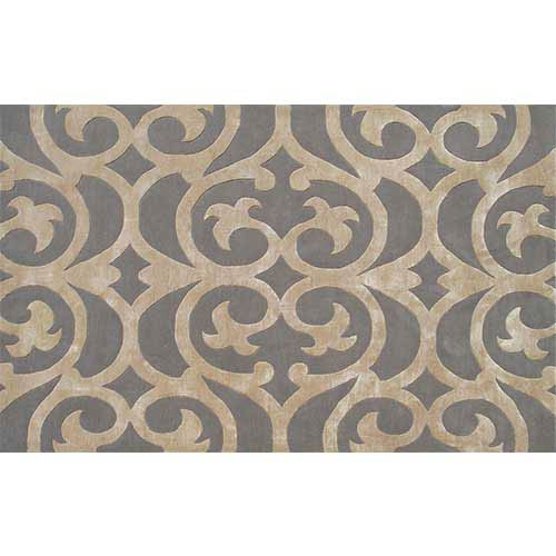 The Rug Market Bellagio Silver and Bronze Rectangular: 5 Ft. x 8 Ft. Rug