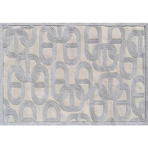The Rug Market Claudia Gray and Cream Rectangular: 5 Ft. x 8 Ft. Rug