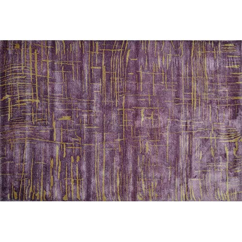 The Rug Market Angola Purple and Gold Rectangular: 5 Ft. x 8 Ft. Rug