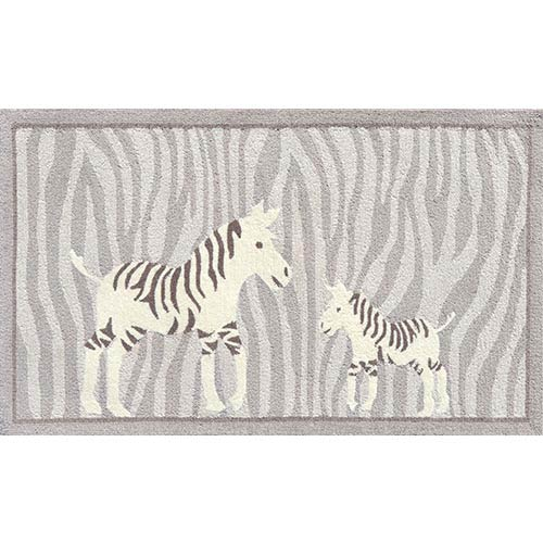 The Rug Market Animal Gray and White Rectangular: 2 Ft. 8 In. x 4 Ft. 8 In. Rug