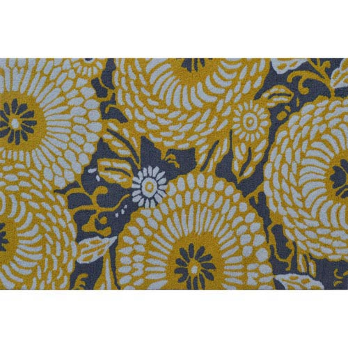 The Rug Market Botanical Flora Gray and Yellow Rectangular: 2 Ft. 8-inch x 4 Ft. 8-inch Area Rug