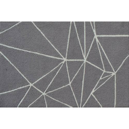 The Rug Market Facet Gray Rectangular: 2 Ft. 8-inch x 4 Ft. 8-inch Area Rug